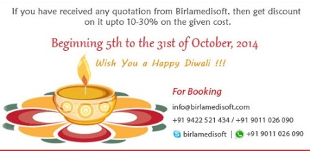 Diwali offer for Healthcare Softwares